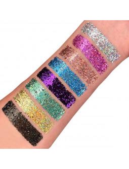 Gel de Purpurina Holográfica Fina en Colores