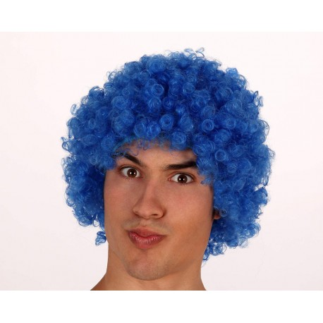 Peluca Azul de Rizos
