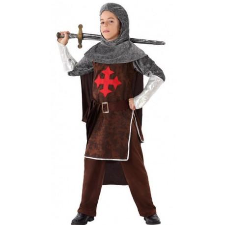 Disfraz de Caballero Medieval Cruzado para Niño