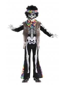 Disfraz de Esqueleto Hippie para Niño