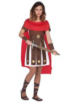 Disfraz de Gladiadora Romana con Capa para Mujer