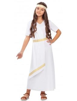 Disfraz de Noble Romana Blanco para Niña