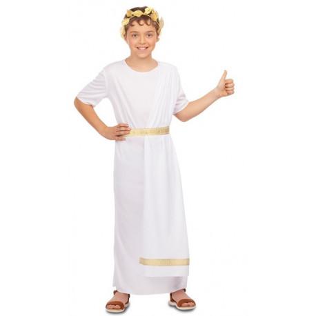 Disfraz de Noble Romano Blanco para Niño