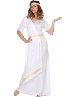 Disfraz de Noble Romana Blanco para Mujer