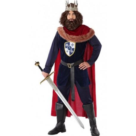 Disfraz de Rey Medieval con Capa para Hombre