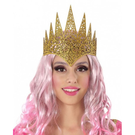 Corona de Reina Dorada con Purpurina