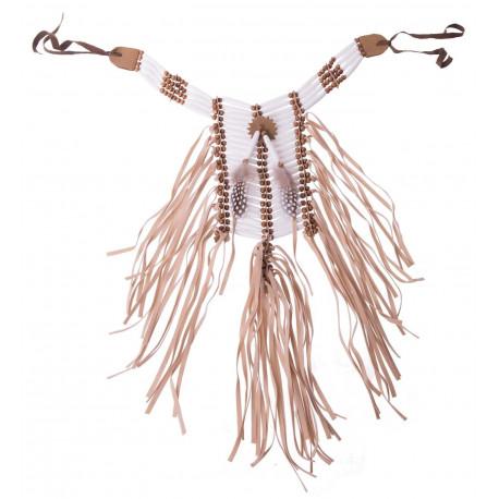 Collar de Jefe Indio Blanco y Marrón