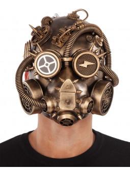 Máscara Steampunk Postapocalíptica Dorada