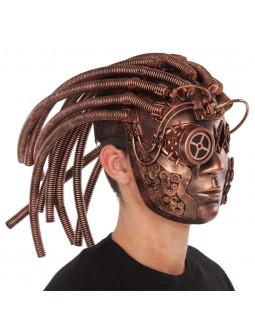 Máscara Steampunk Color Cobre con Pelo