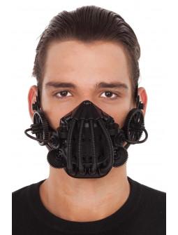 Máscara Steampunk Negra con Engranajes