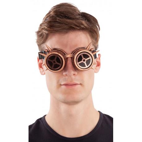 Gafas Steampunk con Pinchos y Engranajes