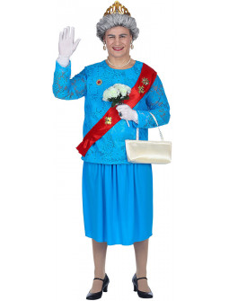 Disfraz de La Reina de Inglaterra para Adulto