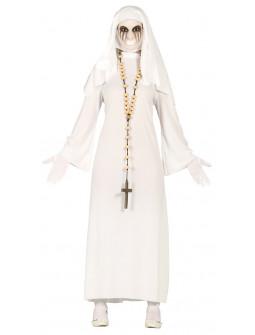Disfraz de Monja Fantasma Blanca para Mujer