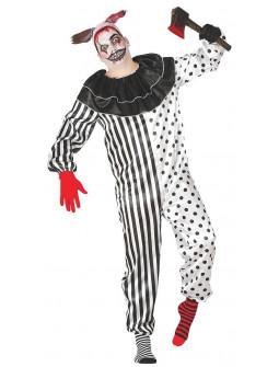 Disfraz de Payaso Pierrot Asesino para Adulto