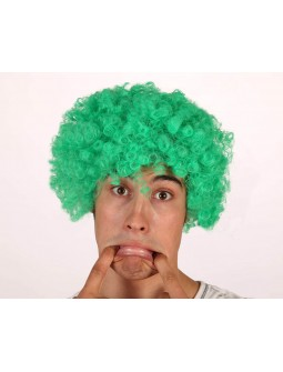 Peluca de Payaso en Verde