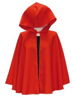 Capa de Caperucita Roja Corta con Capucha
