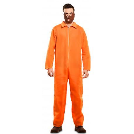 Disfraz de Presidiario Naranja para Adulto