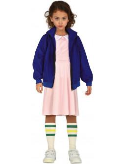 Disfraz de Eleven Stranger Things para Niña
