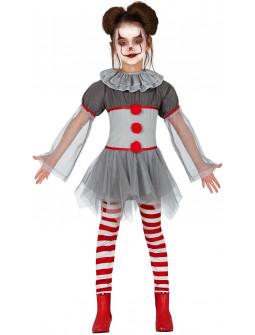 Disfraz de Payasa Asesina Penny para Niña