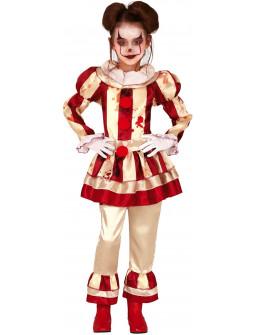 Disfraz de Payasa Asesina Clásica para Niña