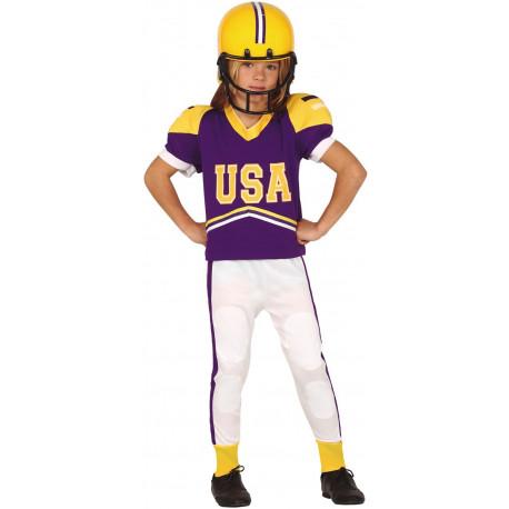 Disfraz Quarterback Morado para Niño