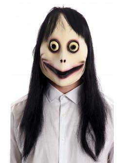 Máscara de Momo de Látex con Pelo