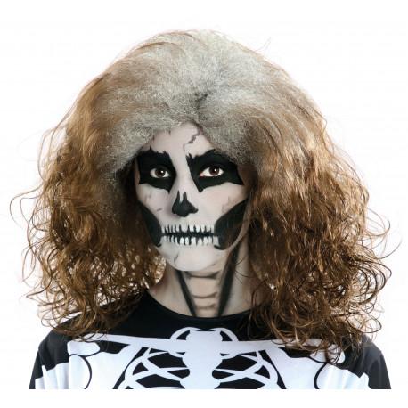 Peluca de Halloween Castaña con Raíz Canosa