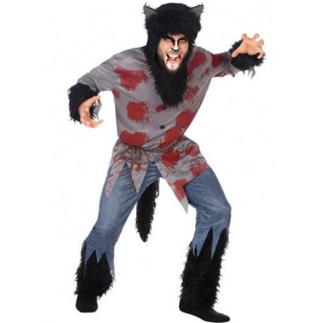 Disfraz de Hombre Lobo Sangriento para Hombre