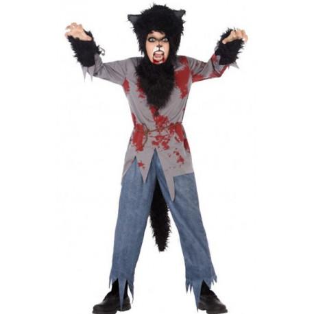 Disfraz de Hombre Lobo Sangriento para Niño
