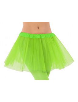 Tutú Verde Lima Corto de 30cms para Mujer