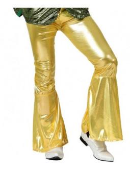 Pantalón de Campana Dorado Disco Años 70