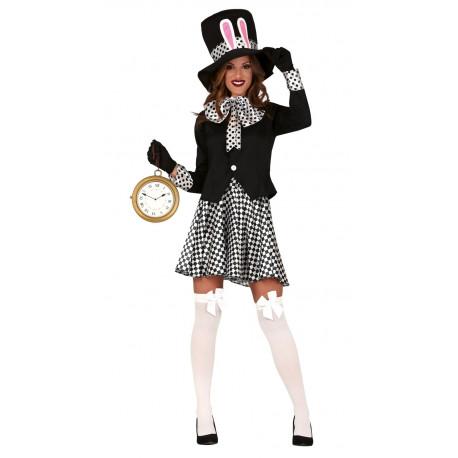 Disfraz De Conejo Sombrerero Oscuro Para Mujer Comprar
