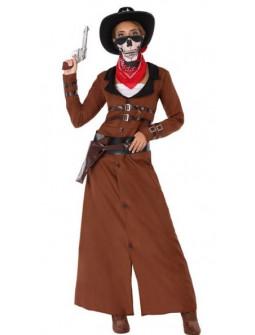 Disfraz de Vaquera con Abrigo Largo para Mujer