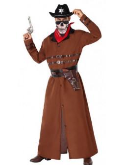 Disfraz de Vaquero con Abrigo Largo para Hombre