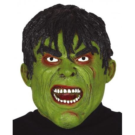 Máscara de Monstruo Verde de Látex