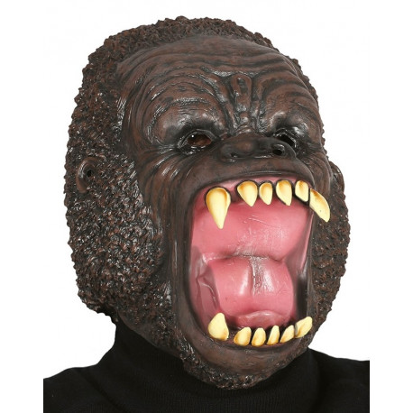 Máscara de Gorila Salvaje de Látex
