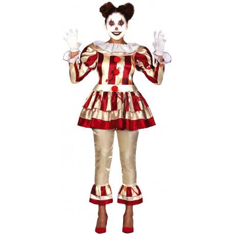 Disfraz de Payasa Asesina Clásica para Mujer