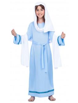 Disfraz de Virgen María Azul y Blanca para Niña