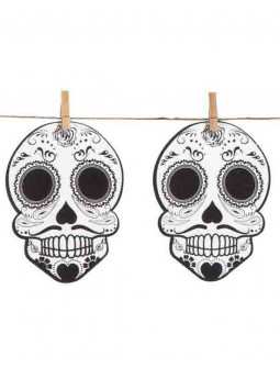 Guirnalda Muerte Mexicana para Halloween