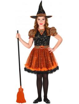 Disfraz de Brujita Naranja para Niña