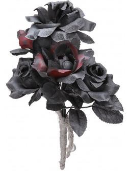 Ramo de Novia con Flores Negras y Rojas