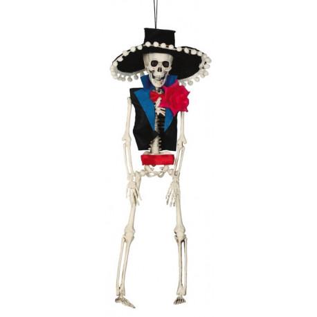 Esqueleto de Catrin Mexicano de Decoración