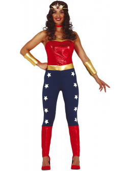 Disfraz de Wonder Lady con Pantalón para Mujer