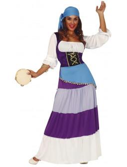 Disfraz de Gitana Morado para Mujer