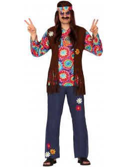 Disfraz de Hippie Floreado para Hombre