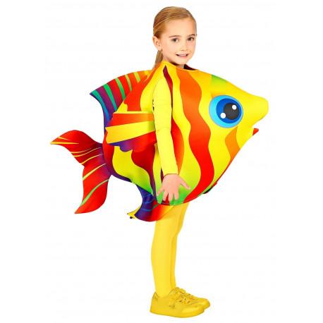 Disfraz de Pez Tropical Amarillo y Rojo Infantil