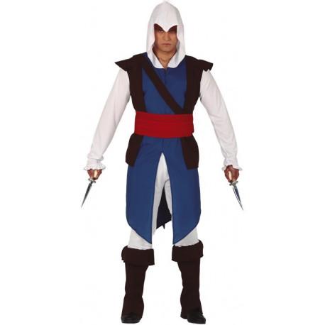 Disfraz de Assassin's Creed Azul y Blanco para Adulto