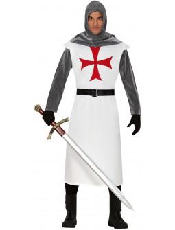 Disfraz de Cruzado Templario Blanco para Adulto