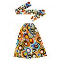 Kit Años 70 Multicolor con Bandana y Calentadores