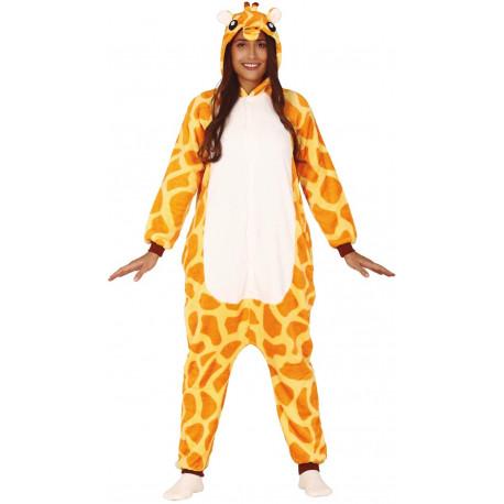 Disfraz de Jirafa Pijama de Peluche para Adulto